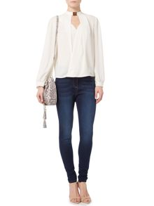 Biba Stevie super stretch skinny jeans in mid wash