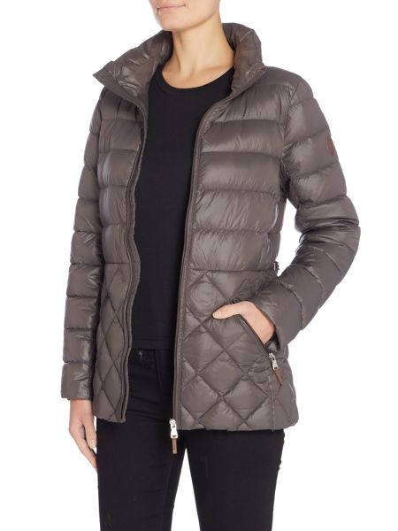 Lauren Ralph Lauren Short quilted coat with faux leather buckle