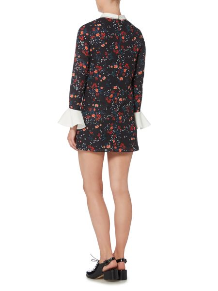 Endless Rose Long Sleeved Bell Sleeve Printed Tunic Dress