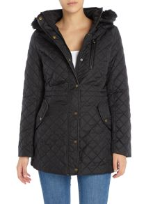 Lauren Ralph Lauren Quilted anorak with faux leather trim
