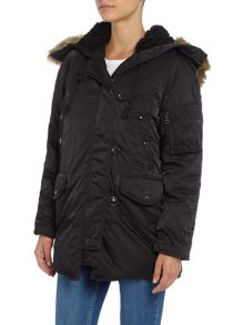 Denim and Supply Ralph Lauren Down faux fur hood parka
