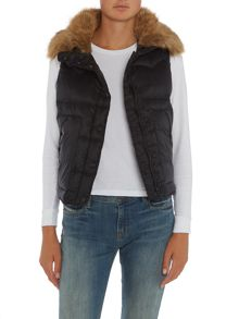Denim and Supply Ralph Lauren Down faux fur hood parka gillet