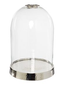 Casa Couture Hammered metal candle cloche small