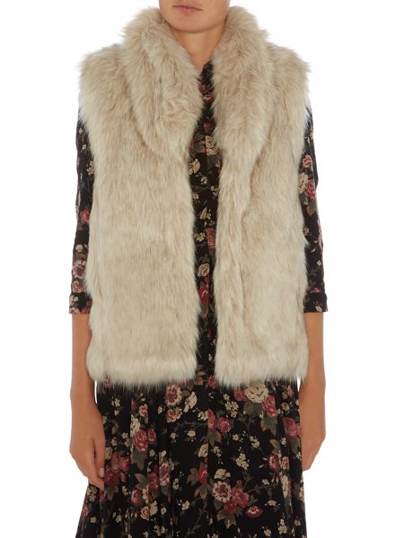 Denim and Supply Ralph Lauren Faux fur vest