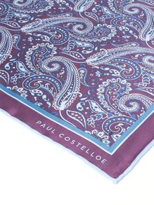 Paul Costelloe Montagu Paisley Silk Pocket Square