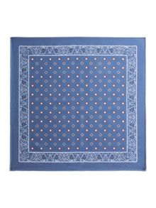 Paul Costelloe Waterloo Geometric Silk Pocket Square