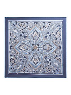 Euston Paisley Silk Pocket Square