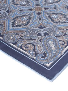 Paul Costelloe Euston Paisley Silk Pocket Square