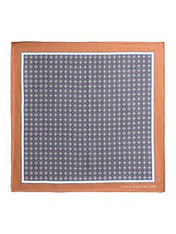 Drayton Geometric Silk Pocket Square