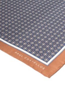Paul Costelloe Drayton Geometric Silk Pocket Square