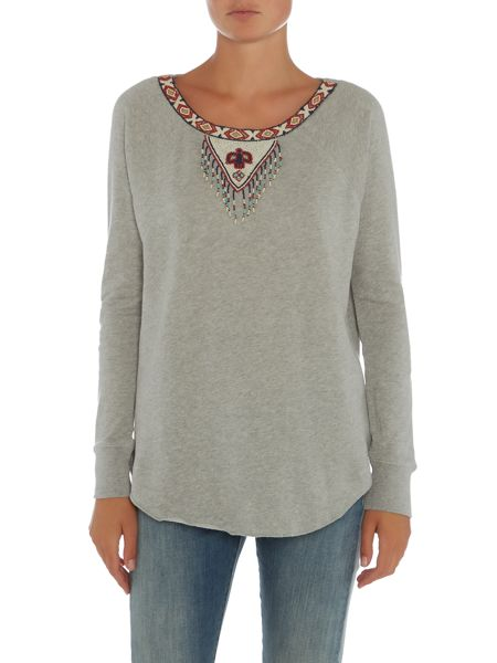 Denim and Supply Ralph Lauren Slouchy sweater with vneck detail