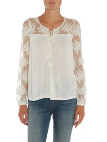 Denim and Supply Ralph Lauren Lace up floaty tunic
