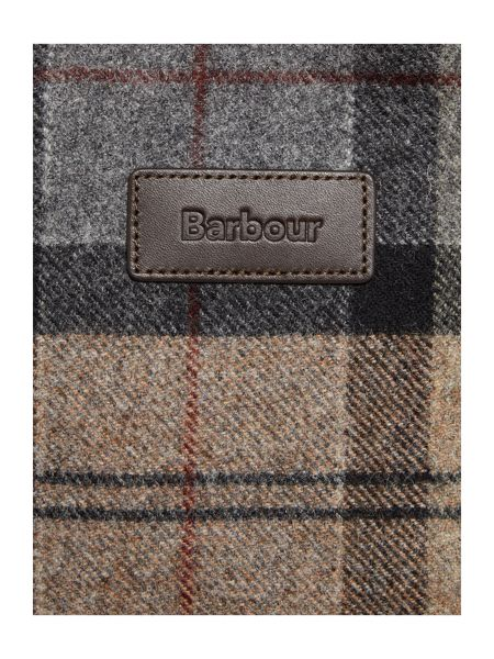 Barbour Winter tartan north west tote bag