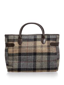 Barbour Multi tartan business bag