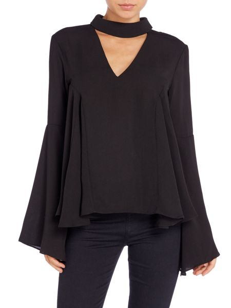 Endless Rose Long Sleeved Cut Out Blouse