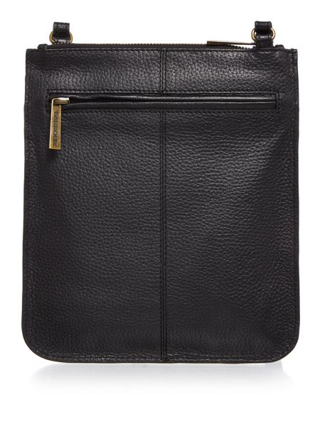 Barbour Leather embossed crossbody bag