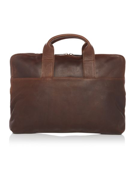 Lyle and Scott Leather Laptop Case