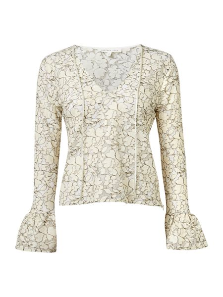 Endless Rose Long Sleeved Lace Detail Blouse