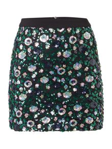 Endless Rose Embellished Mini Skirt