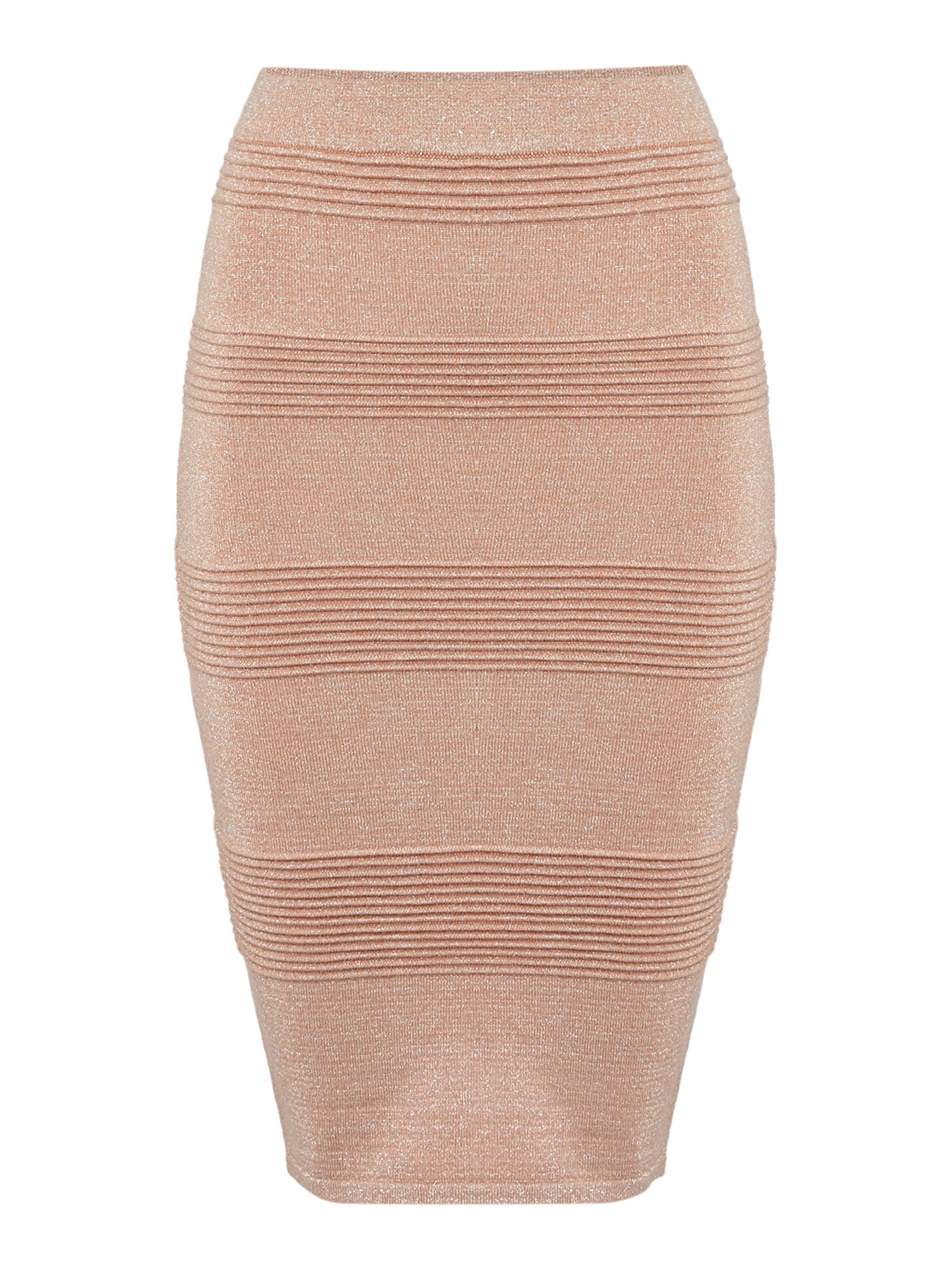 Endless Rose Endless Rose Panelled Bodycon Skirt, Dusty Pink