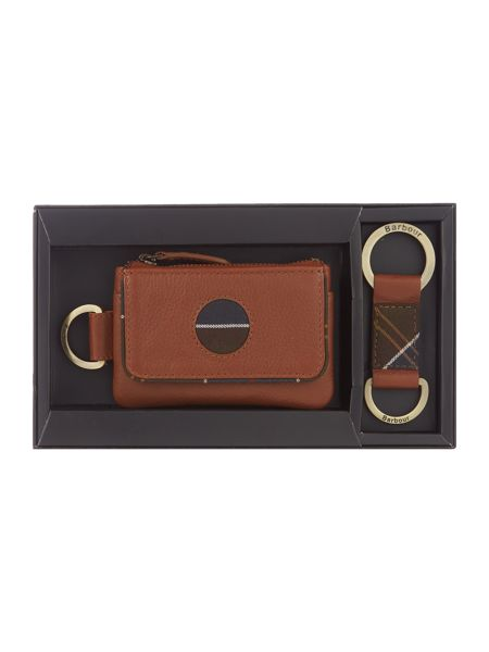 Barbour Coin purse and key fob gift set