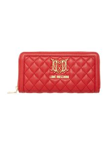 Love Moschino Superquilt zip around purse