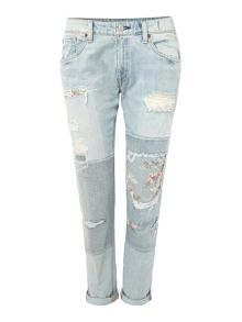 Denim and Supply Ralph Lauren Campbell skinny boyfriend jean with knee patch
