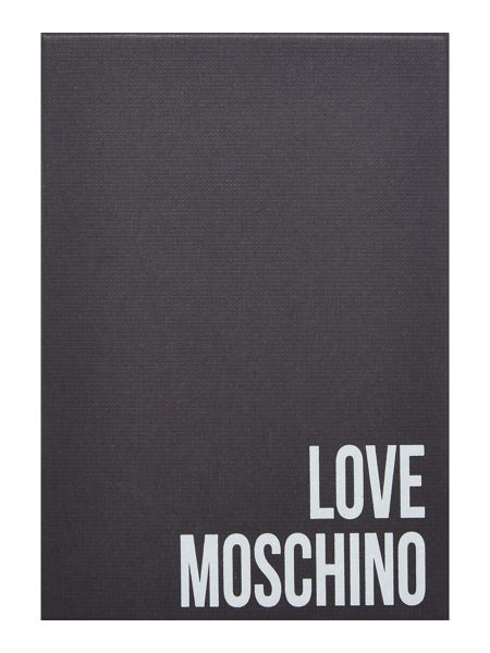 Love Moschino Love stitch flap over purse