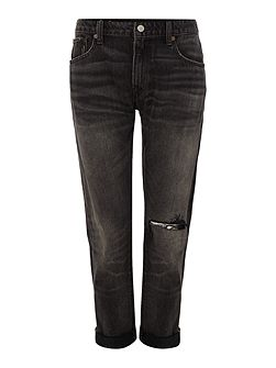 Elton skinny boyfriend fit distressed jean