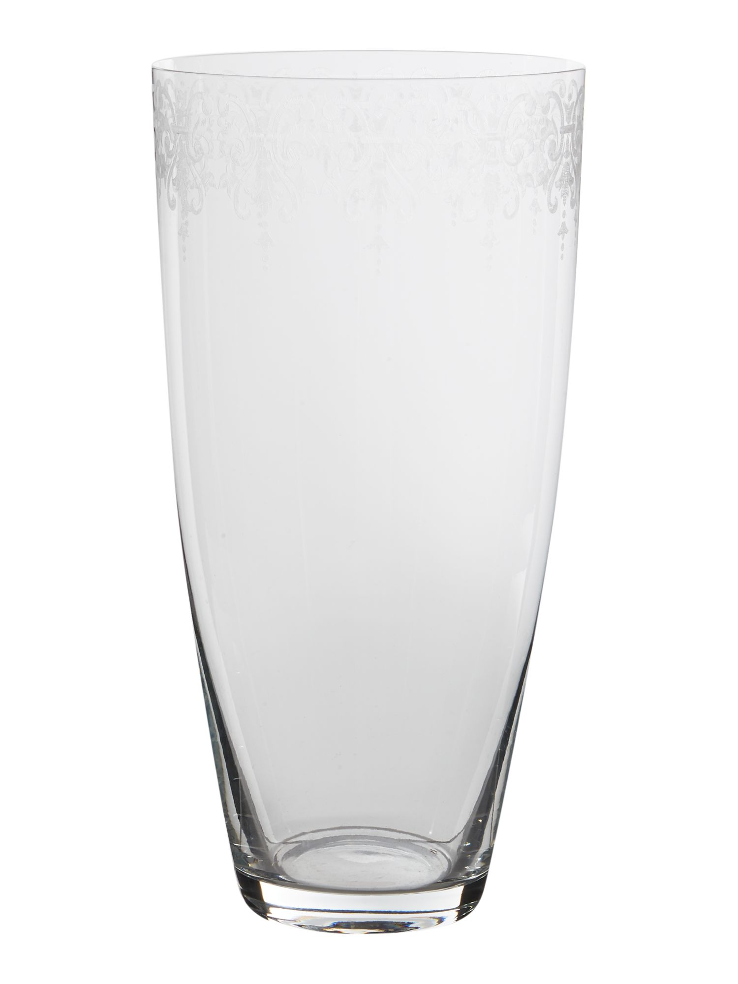 Image of Junipa Bea glass etched cylindrical vase