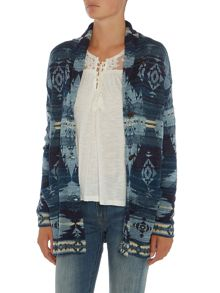Denim and Supply Ralph Lauren Boyfriend fit printed cardigan