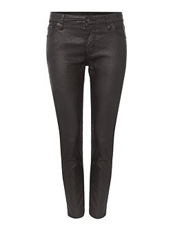 Irving waxed cotton cropped skinny