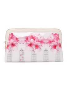 Ted Baker Blythe window large cosmetic bag