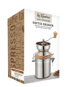 Kitchen Craft Stainless Steel Traditional Coffee Grinder