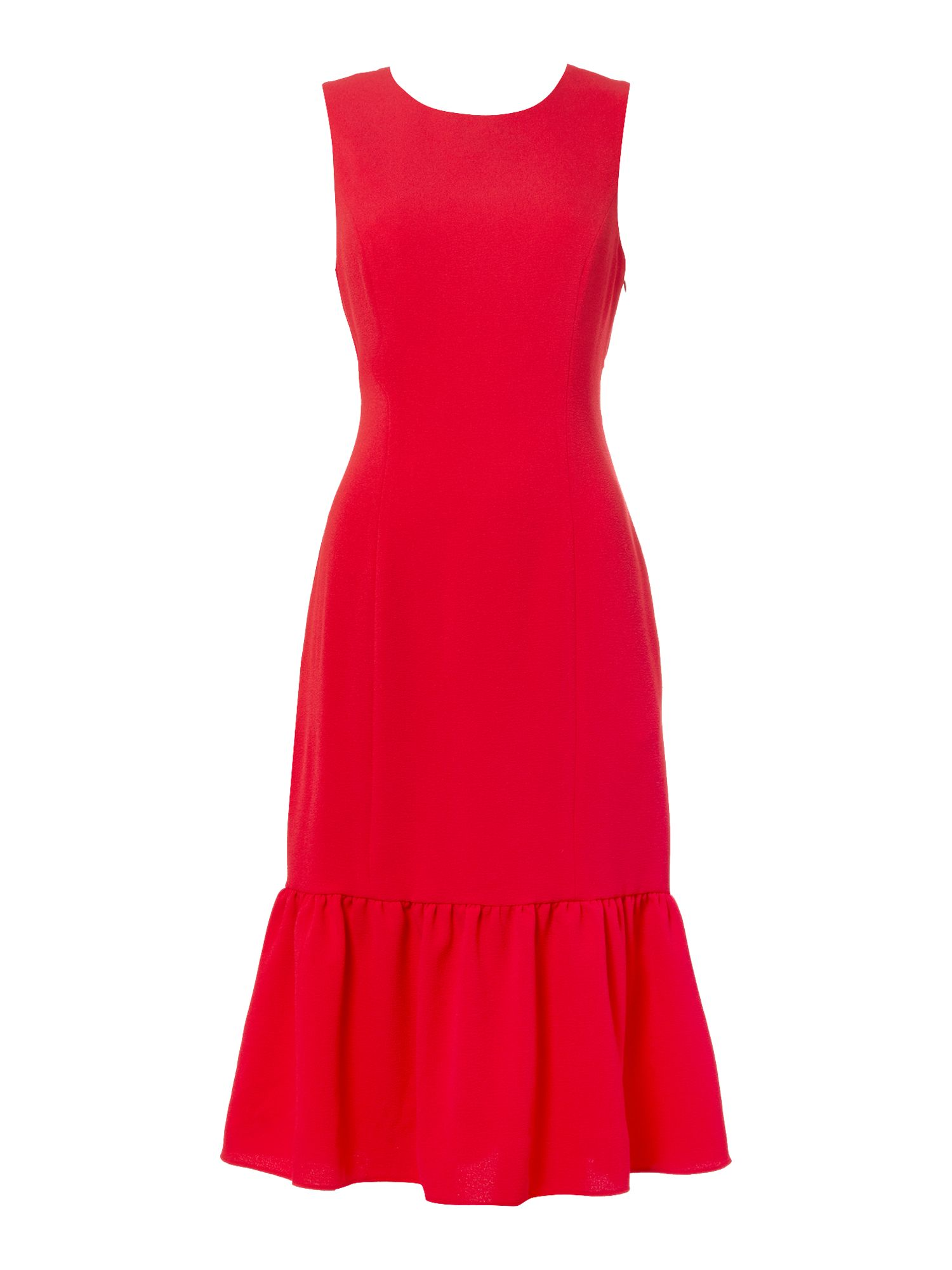 Adrianna Papell Sleeveless Kick Hem Shift Dress, Lipstick