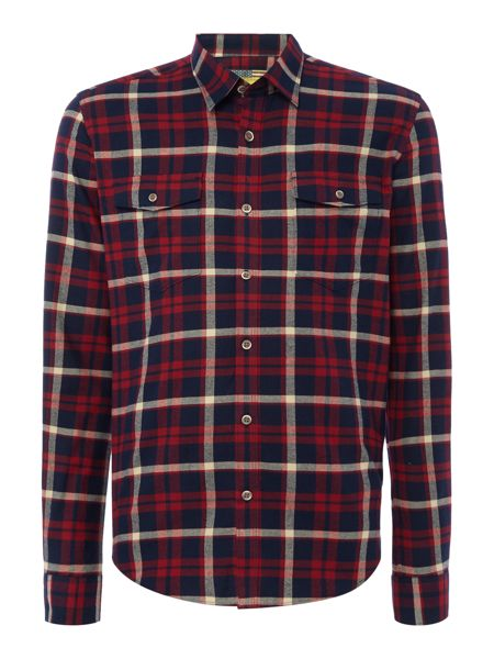 Barbour Steve McQueen chain checked long sleeve shirt