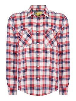 Steve McQueen Hairpin checked long sleeve shirt