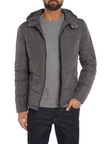 Original Penguin Melange Hooded Padded Coat