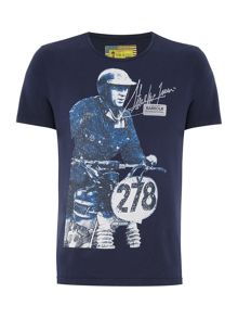 Barbour Steve McQueen breakout crew neck t-shirt