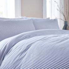 Linea Seersucker stripe duvet cover set
