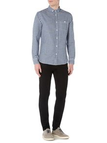 Criminal Denver Oxford Gingham Long Sleeve Shirt
