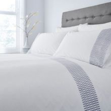 Casa Couture Chiltern embroidered edge duvet cover