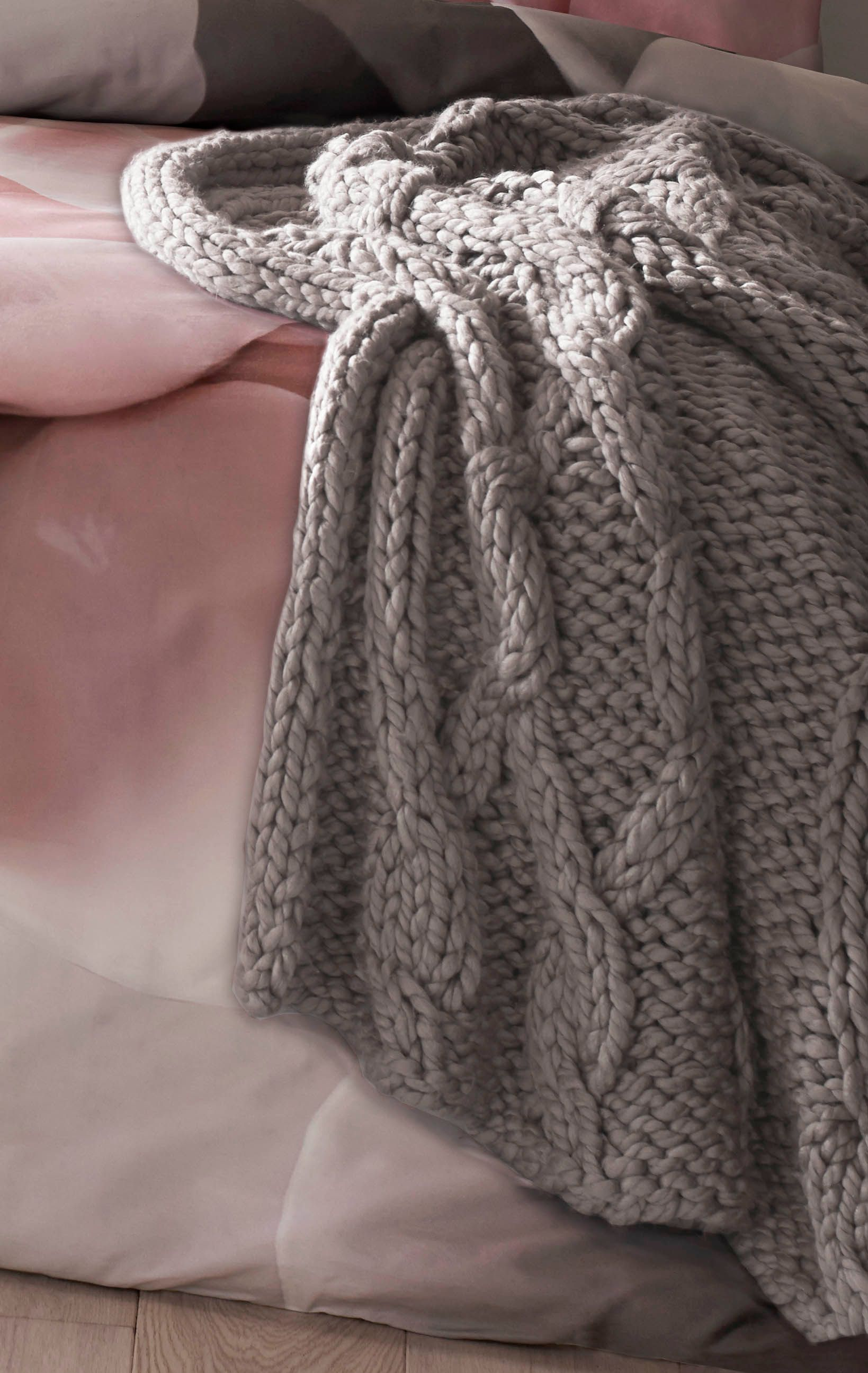Image of Ted Baker Chunky knit throw