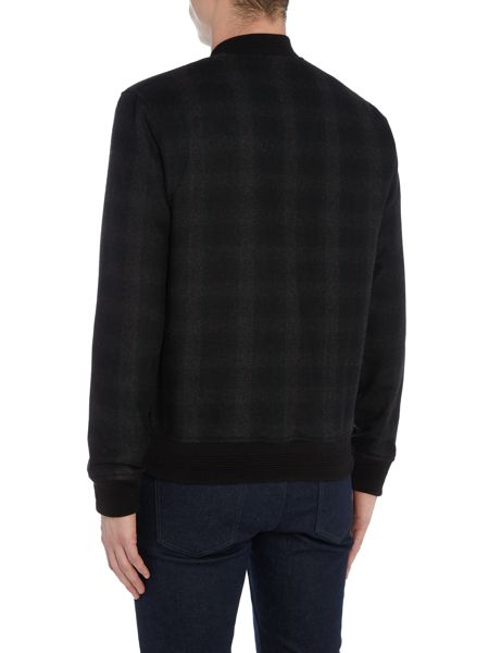 Original Penguin Wool- Blend Over-Check Melton Bomber