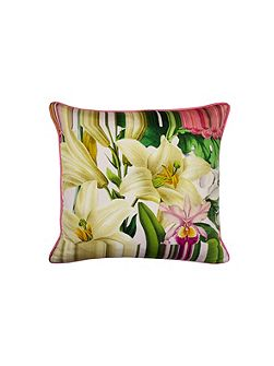 Encyclopaedia floral 45x45 feather filled cushion