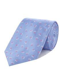 Howick Tailored Deerfield Mini flower jacquard silk tie