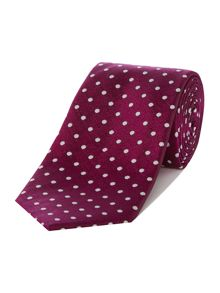 Howick Tailored Center Textured Polka Dot Silk Tie