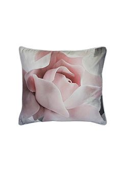 Porcelain rose 45x45 feather filled cushion