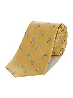 Marlin Fish Jacquard Silk Tie
