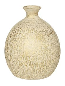 Junipa Baja textured ceramic bulb vase